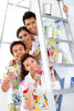 Group of painters Royalty Free Stock Photos