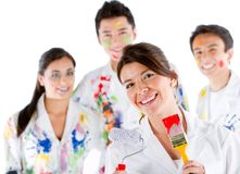 Group of painters Stock Photography
