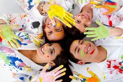 Group of painters Stock Photos
