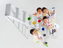 Group of painters Stock Images