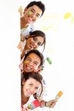 Group of painters Stock Photo