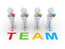 Group of painters as team Stock Photography