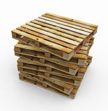 Group of Pallets Royalty Free Stock Photos