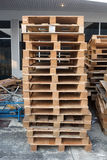 Group  Pallets. Group Pallets in factory Stock Images