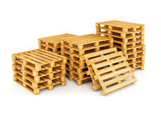 Group of pallets isolated on white Stock Image