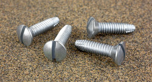 Group of pan head thread cutting screws Stock Images