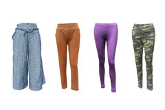Group pantaloons on isolated Stock Images