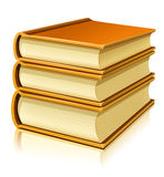 Group of paper books with blank cover Royalty Free Stock Image