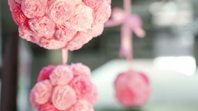 Group Paper flowers stock video footage