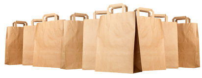 Group of paper shopping bags royalty free stock photo