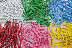 Group paperclip color Royalty Free Stock Image