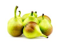 Group of paradise pears isolated on white background Stock Images