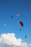 Group of paragliders in the sky Royalty Free Stock Photo
