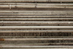 Group of parallel pipes in factory Stock Images