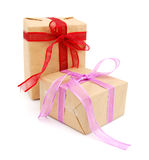 Group of parcel wrapped Stock Images