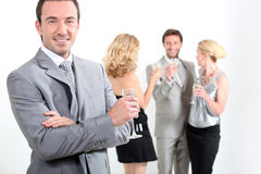 Group at a party Royalty Free Stock Photos