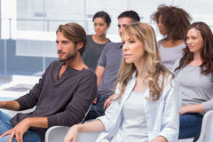 Group of patients listening at therapy Stock Images