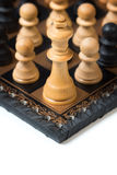 Group of Pawns fight against the King Royalty Free Stock Photos