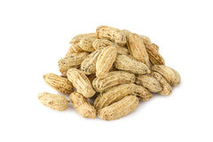 Group of peanut. Group of fresh peanut on white background Stock Photo