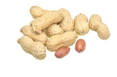 Group of peanuts Royalty Free Stock Photos