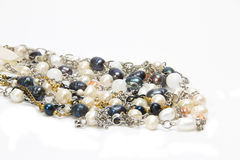 A group of pearl jewelry Royalty Free Stock Photos