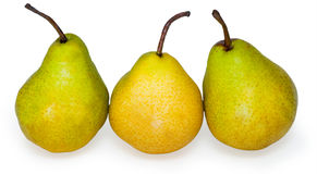 Group pears. On white background Stock Image