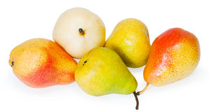 Group pears. Isolated on white background Royalty Free Stock Image