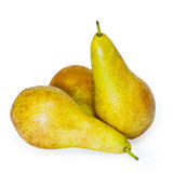Group pears. Isolated on white background Stock Photography