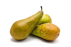 Group of pears. Small group of pears (Conference) on white Stock Images