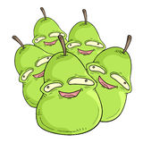 Group pears. Creative design of group pears Stock Image