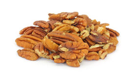 Group of pecan nuts Stock Images