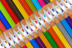Group of pencil with color as zipper Stock Images