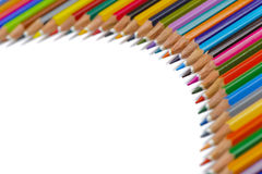 Group of pencil with color shows chart Royalty Free Stock Image