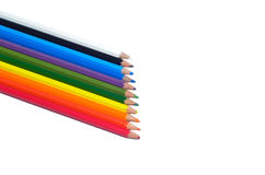 Group of pencil isolated white background. Group of color pencil isolated white background Royalty Free Stock Photos