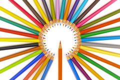 Group of pencils with color Royalty Free Stock Image
