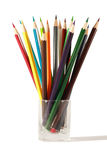Group pencils isolated on the white Royalty Free Stock Images