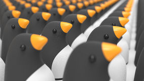 Group of penguins concept Royalty Free Stock Images