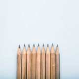 Group of pens. With copy space on studio background royalty free stock images