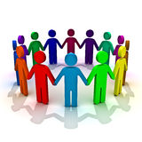 Group of people. And teamwork concept royalty free illustration