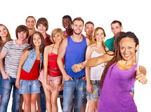 Group people. Multi-ethnic group people  Isolated Stock Photo