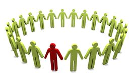 Group of People. Conceptual image on white background Royalty Free Stock Photos