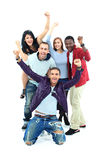 Group of people. On a white background Stock Images