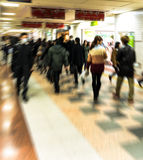 Group of people. Image of group of people in blurred motion with zoom effect Stock Photography