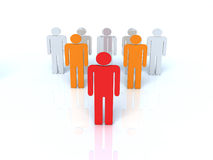 The group of people Stock Photography