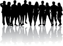 Group of people. Vector work Royalty Free Stock Photo