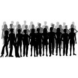 Group of people. Silhouettes of people - men and women - additional ai and eps format available on request Royalty Free Stock Image