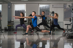 Group People During Aerobics Class Stock Photo