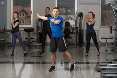 Group People During Aerobics Class Stock Image