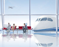 Group of People in the Airport Royalty Free Stock Images