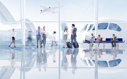 Group of People in the Airport Royalty Free Stock Photo